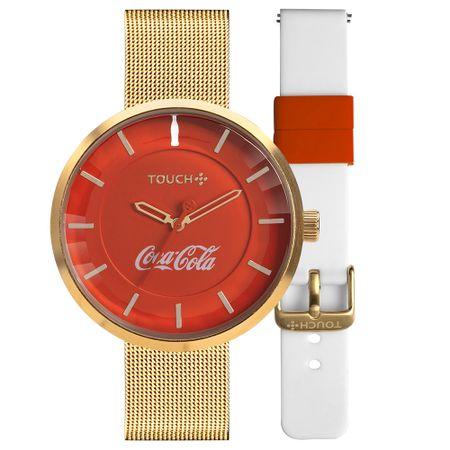 Relógio Touch Coca-Cola Masculino Dourado TW2035MOT/T8R