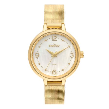 Relógio Condor Feminino Bracelete Dourado CO2036KWY/4B