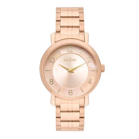 Relógio Condor Feminino Bracelete Rosé CO2036KXB/4J