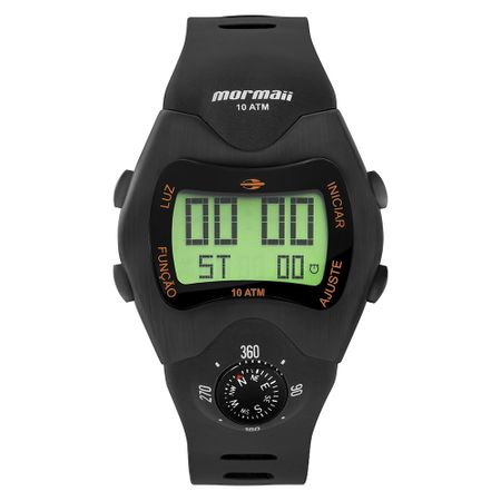 Relógio Mormaii Masculino Bússola Preto MO1324AC/2P