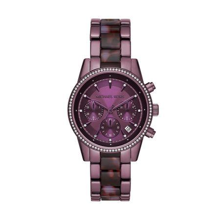 Relógio Michael Kors Feminino Ritz Roxo MK6720/1NN