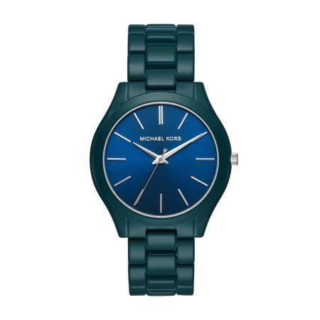 Relógio Michael Kors Feminino Slim Runway Azul MK4416/1VN