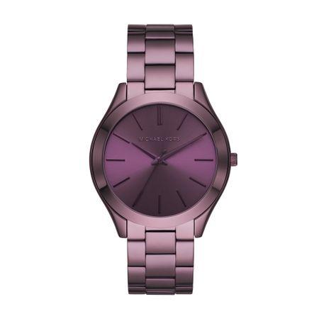Relógio Michael Kors Feminino Slim Runway Roxo MK4415/1TN