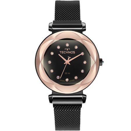 Relógio Technos Feminino Crystal Preto 2035MSA/4P