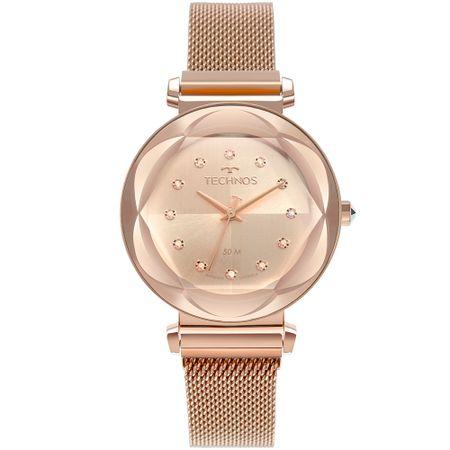 Relógio Technos Feminino Crystal Rosé 2035MSB/4J