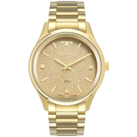 Relógio Technos Feminino Dress Dourado 2036MLZ/4D