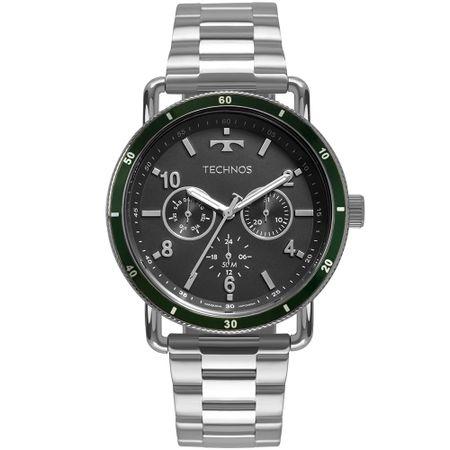 Relógio Technos Masculino Militar Prata 6P29AKU/1V