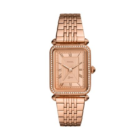 Relógio Fossil Feminino Lyric Rosé ES4720/1JN
