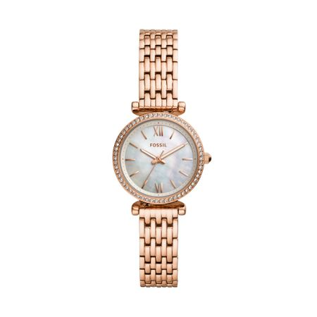 Relógio Fossil Feminino Mini Carlie Rosé ES4648/1JN