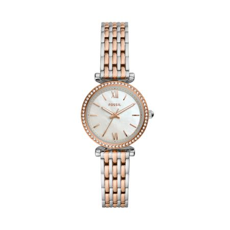 Relógio Fossil Feminino Mini Carlie Bicolor ES4649/1KN