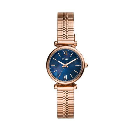 Relógio Fossil Feminino Carlie Mini Rosé ES4693/1JN