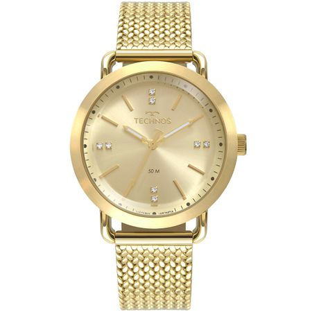 Relógio Technos Feminino Style Dourado 2036MMC/4X
