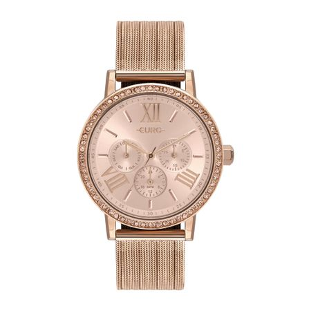 Relógio Euro Feminino Multiglow Party Rosé - EU6P29AHM/4J
