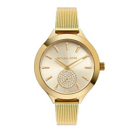 Relógio Michael Kors Feminino Slim Runway Dourado MK3920/1DN