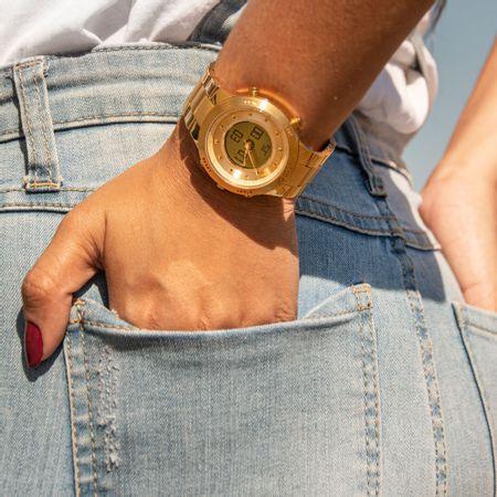 Relógio Euro Feminino Sporty Lux Dourado EUBJ3889AA/4D