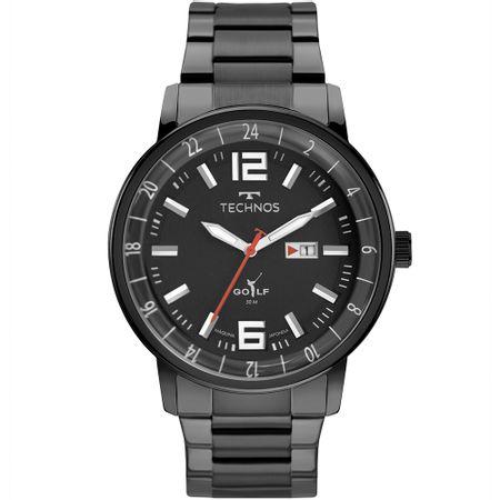 Relógio Technos Masculino Golf Preto - 2115MWC/1P