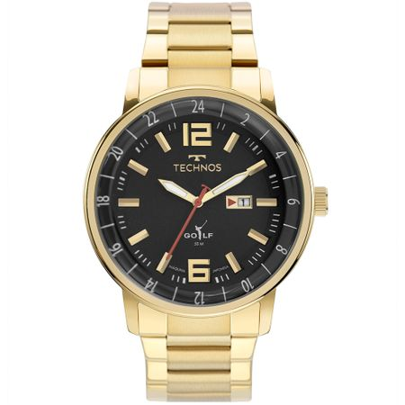 Relógio Technos Masculino Golf Dourado - 2115MWD/1P