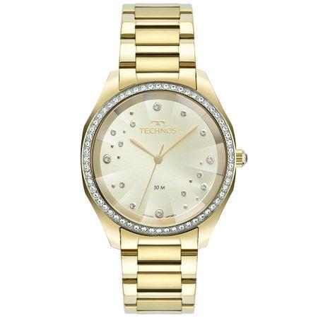 Relógio Technos Crystal Feminino Dourado 2036MMG/1X