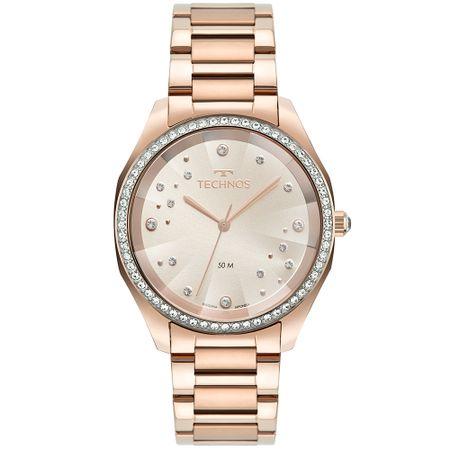 Relógio Technos Crystal Feminino Rosé 2036MMH/1T