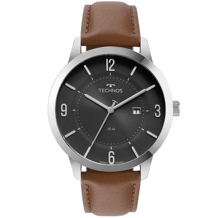 Relógio Technos Steel Masculino Prata 2117LCQ/0P