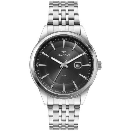 Relógio Technos Steel Masculino Prata 2117LCV/1P