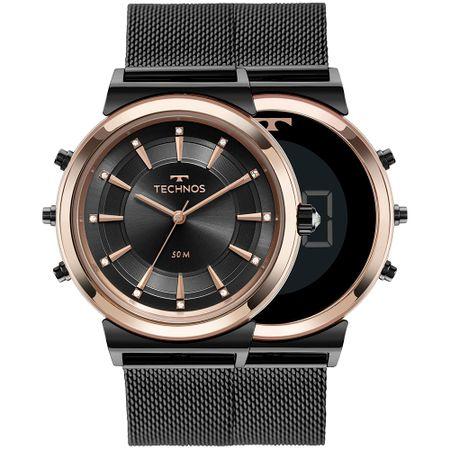 Relógio Technos Feminino Curvas Bicolor 9T33AB/4P