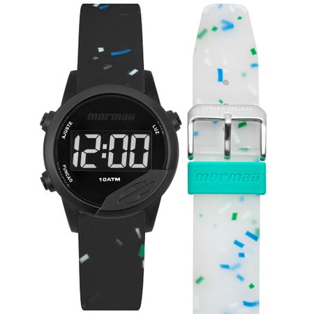 Relógio Mormaii Mude Masculino Preto MO4100AE/T8W