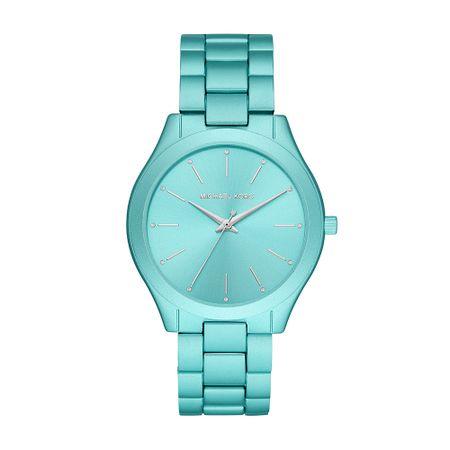 Relógio Michael Kors Slim Runway Feminino Azul MK4525/1AN