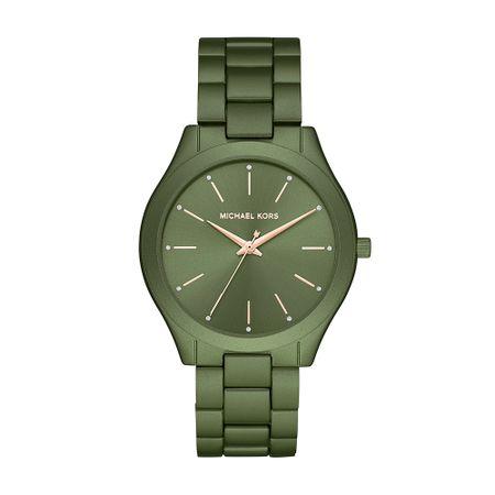Relógio Michael Kors Slim Runway Feminino Verde MK4526/1VN