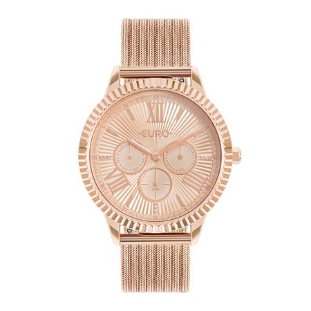 Relógio Euro Multiglow Feminino Rosé EU6P29AHP/4J