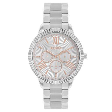 Relógio Euro Multiglow Feminino Prata EU6P29AHR/3K