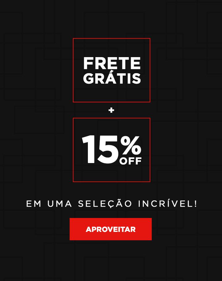 15% off + Frete Gratis